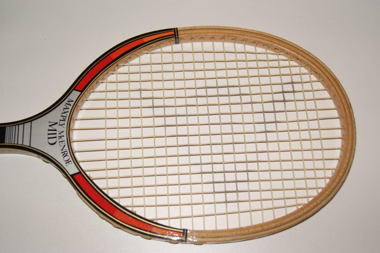 John McEnroe Dunlop Maxply: Mid 80's Wooden Tennis Racquet