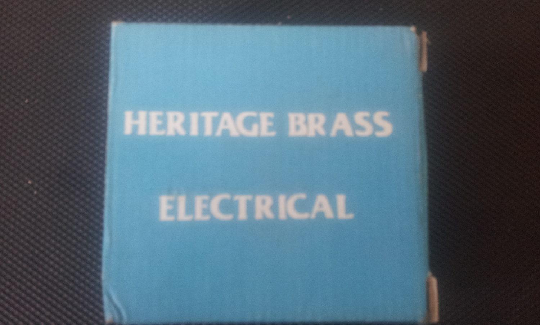Heritage Brass Switch Plate