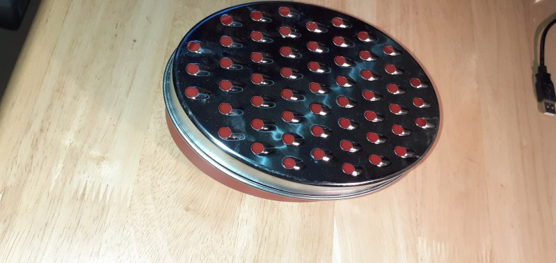 Cheese grater tub large holes