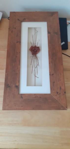 Framed dry flowers